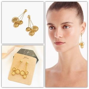 J.Crew Orb Drop Earrings in Burnished Gold